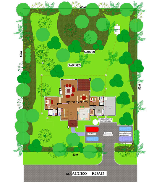 HOUSE TYPE C3 SITE PLAN