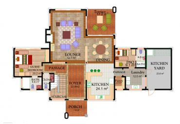 House Type C3 - Ground Floor Plan